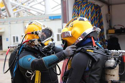 Tas Global's industrial diver