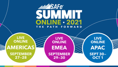 The two-day 2021 Global SAFe Summit will be online in three time zones, Americas, Europe, and Asia.